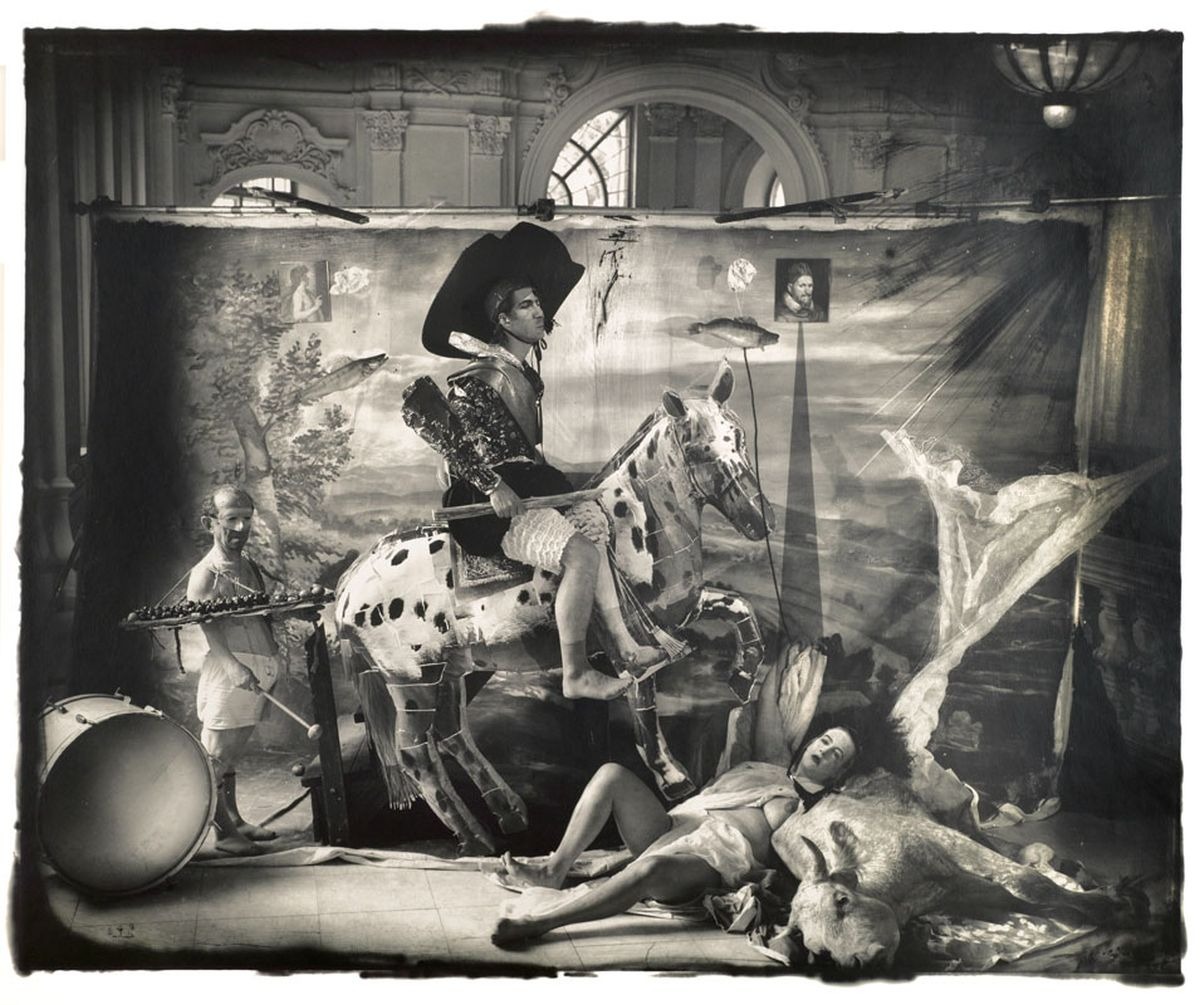 "Joel-Peter Witkin, The Fool, 1993  From the Photographic Works series  16 x 20"", 30 x 40"" gelatin silver print Edition of 10, 12"