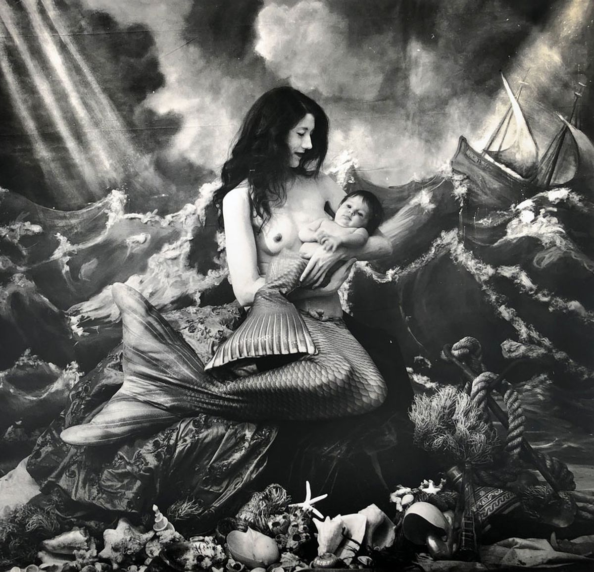 "Joel-Peter Witkin, A Mermaid's Tale, NM, 2018  From the Photographic Works series  16 x 20"" gelatin silver print Edition of 15 + 3 AP's"