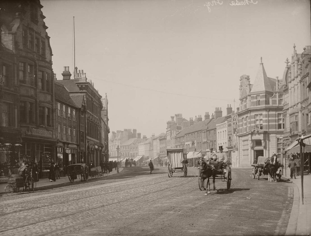 Broad Street, Reading, looking westwards, c. 1890