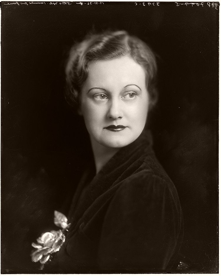 Studio portrait of Mrs. George Sutcliffe taken in December 1936. Louis Strauss