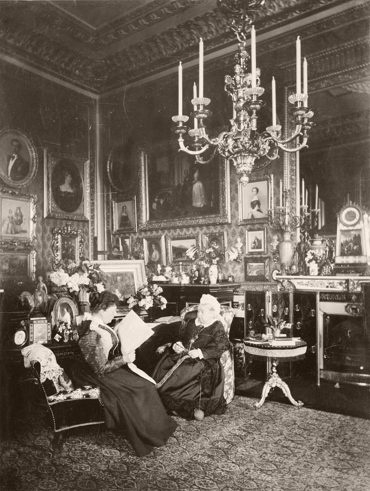 Mary Steen: Queen Victoria and Princess Beatrice, Windsor Castle (1895)