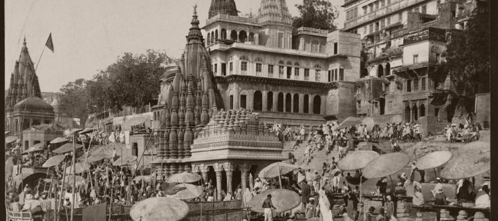 Vintage: Historic B&W photos of Benares (Varanasi), India (1890s)
