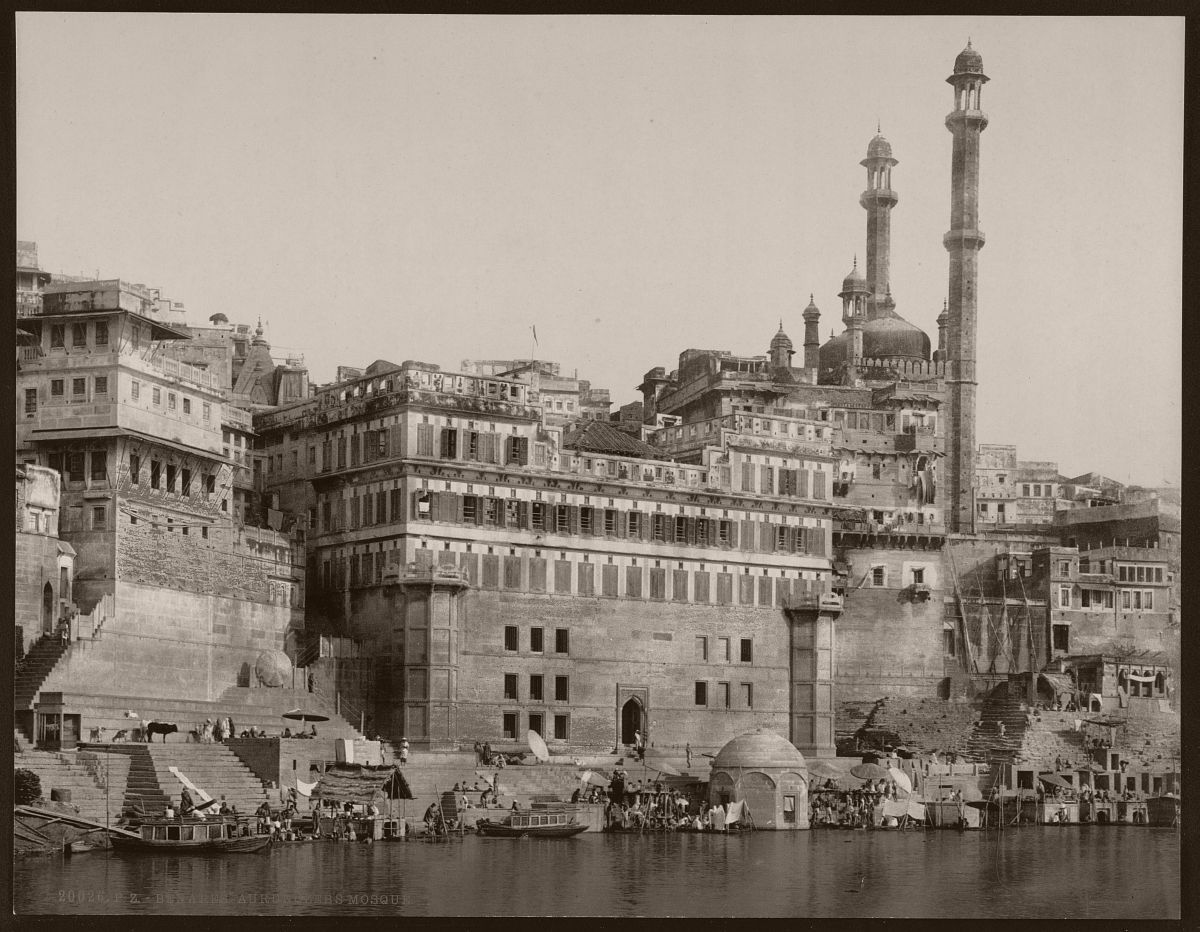 Benares. Aurungzebs Mosque