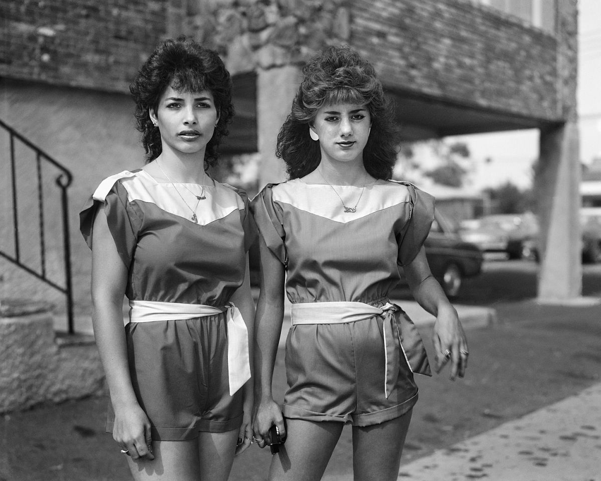 Two Girls in Matching Outfits 1983-84 gelatin silver print 11 x 14 inches