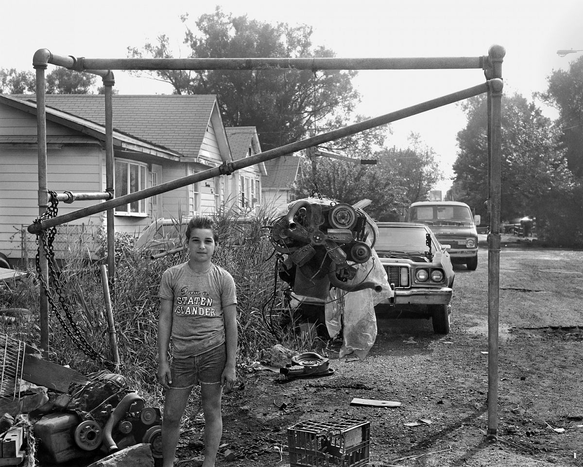 Boy with Staten Island T-Shirt 1983-84 gelatin silver print 11 x 14 inches