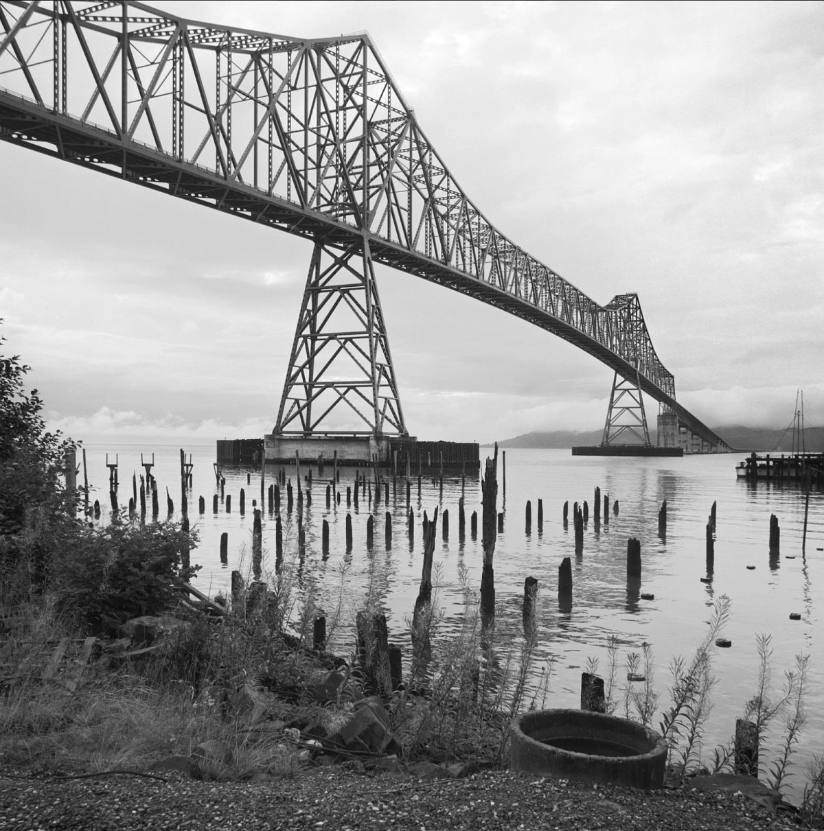 Astoria Bridge, Columbia River, Astoria, Oregon - Point Elice, Washington, 1968