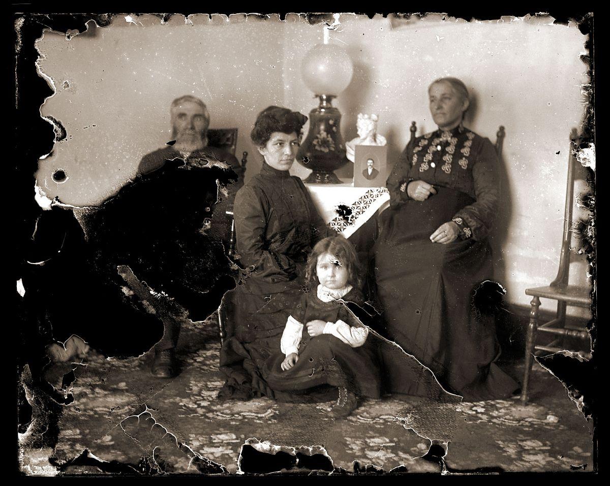 Three generations of family