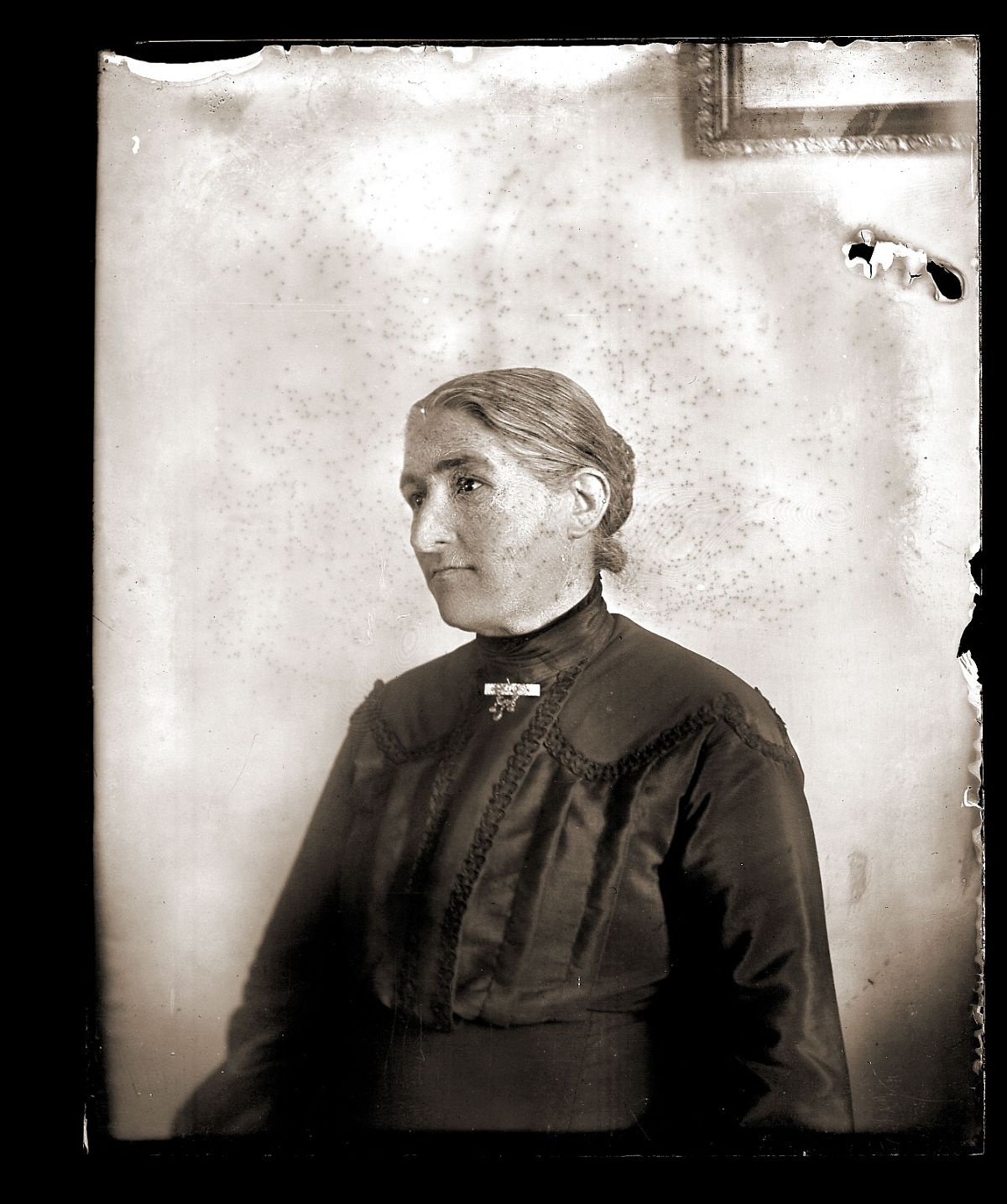 Grandmother in a mourning dress, c1913