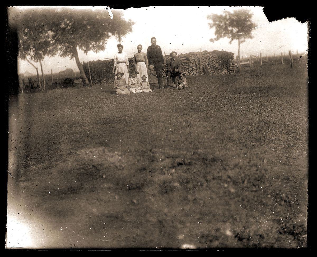 Family on lawn, c1913