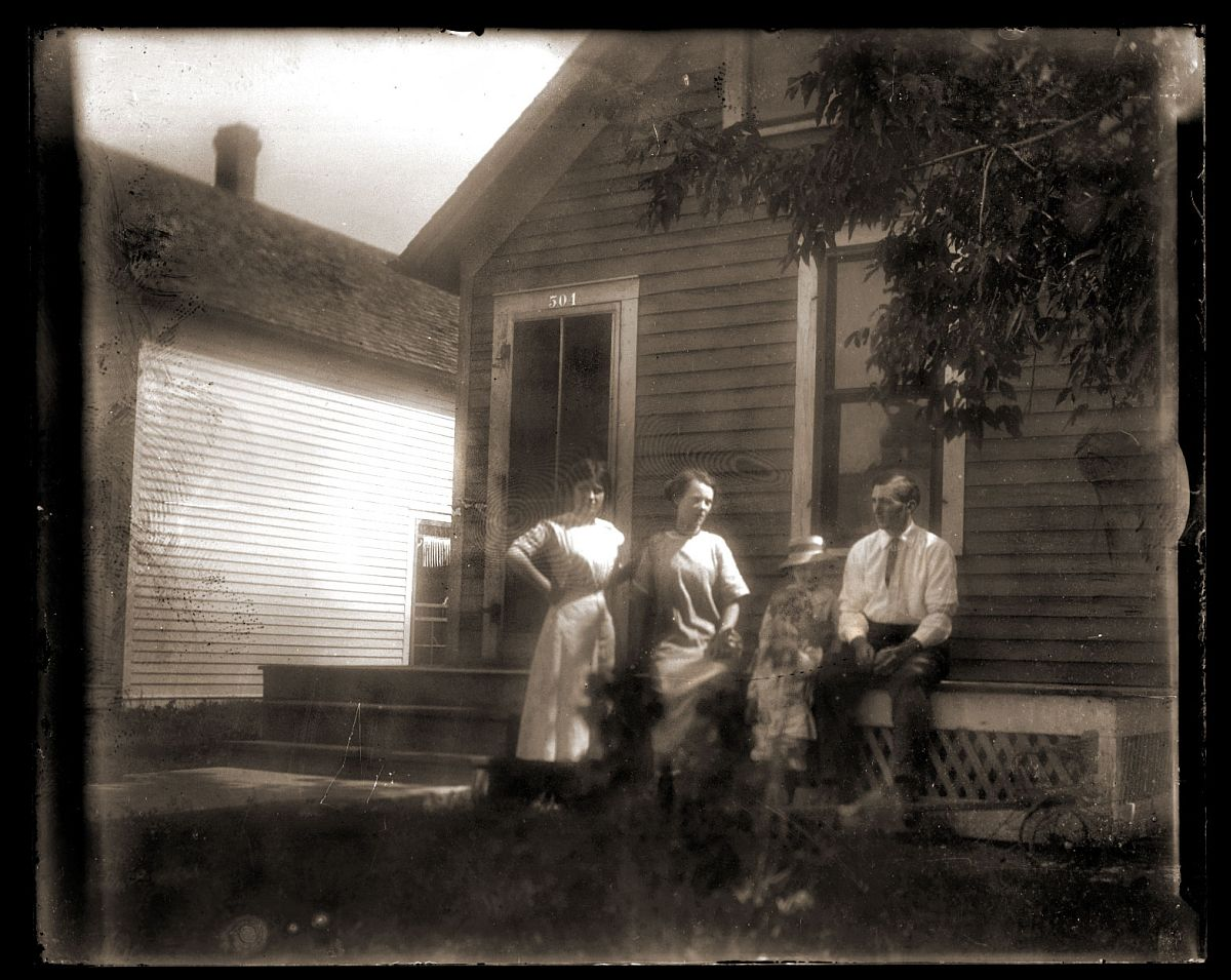 Small group on porch, c1913