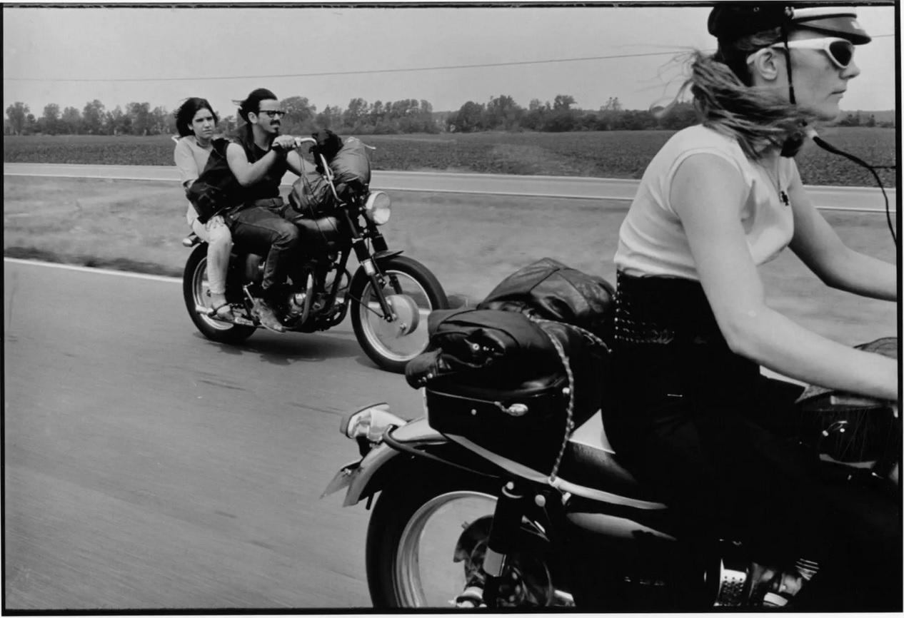 Danny Lyon From Dayton to Colombus, Ohio, The Bikeriders Portfolio, 1966
