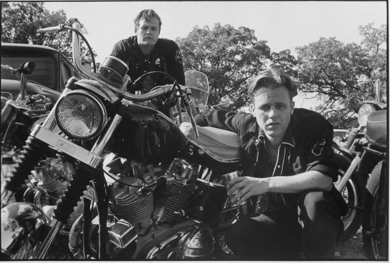 Danny Lyon Brucie, His CH, and Crazy Charlie, McHenry, Illinois, The Bikeriders Portfolio, 1966