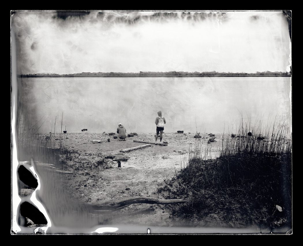 Michael Kolster (American, b. 1963); Fishing at McQueen's Island, Savannah, Georgia, 2014; 7 3/8 x 9 3/16 inches; from the River series, 2011-2014; ambrotypes; courtesy and ©Michael Kolster