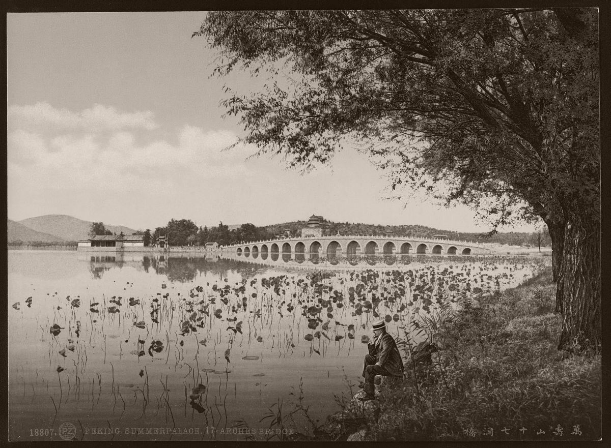 Peking. Summerpalace, 17-Arches Bridge