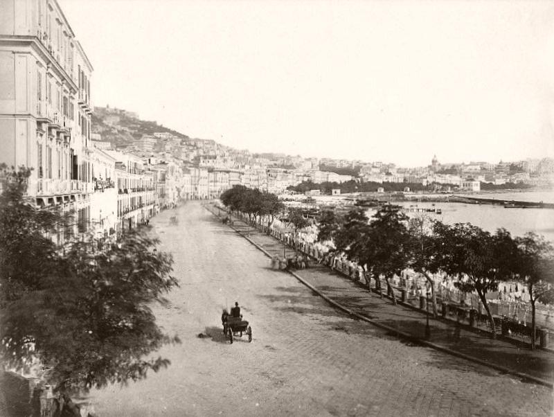 Riviera di Chiaia, Naples, circa 1865