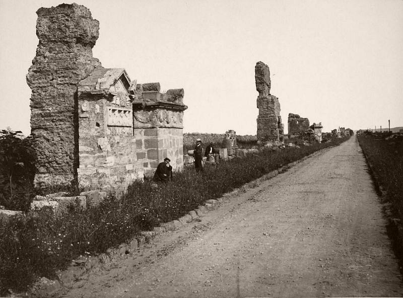 Via Appia, Rome, circa 1865