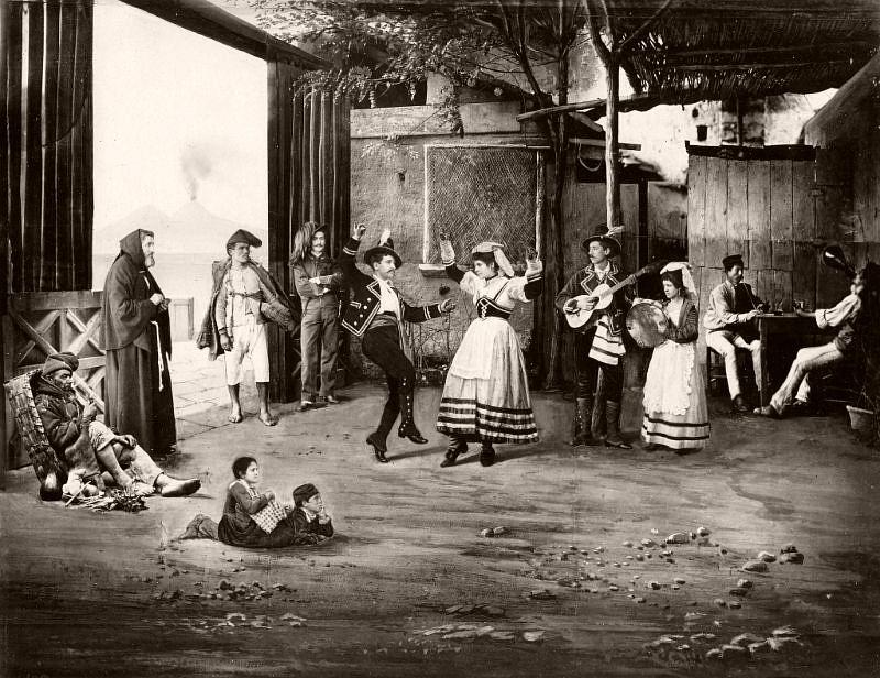 Dancing the Tarentella, Naples, circa 1875
