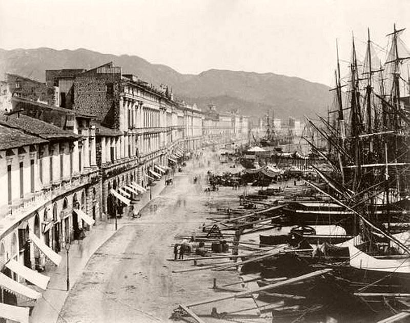 Messina harbour, circa 1862