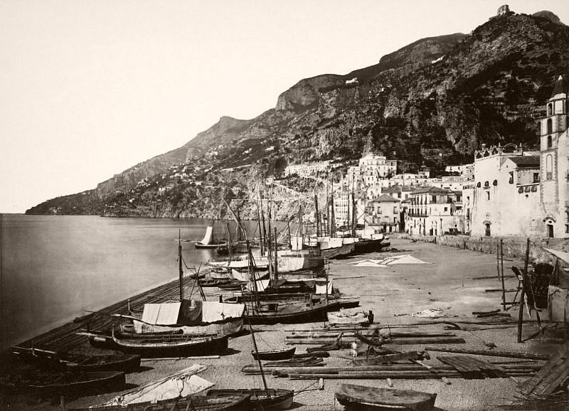 Amalfi Marina, circa 1865