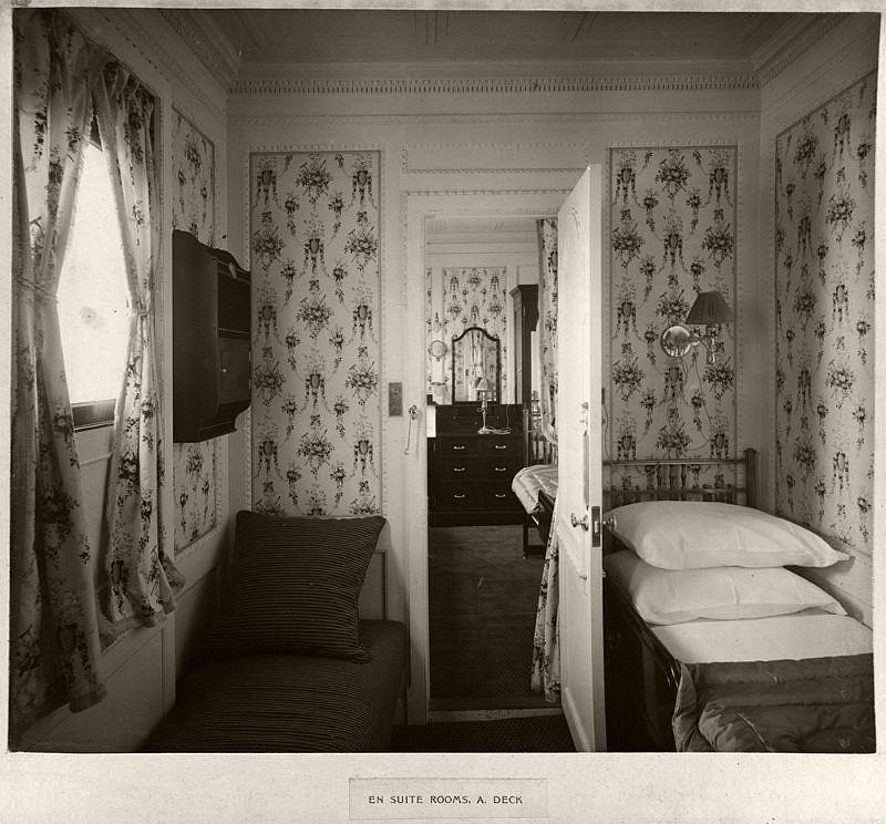 En suite rooms, A. deck, circa 1906