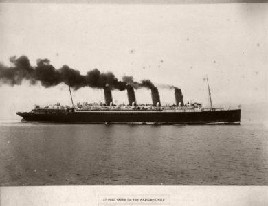 """Vintage: R.M.S. """"Mauretania"""" (1906)"""