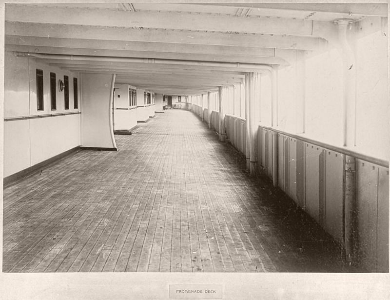 Promenade deck, circa 1906