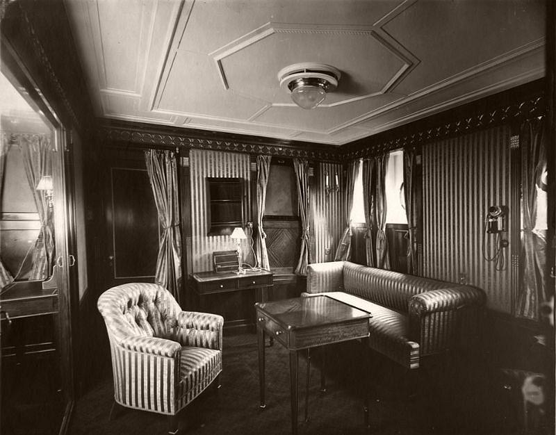 Regal Suite parlour, circa 1906