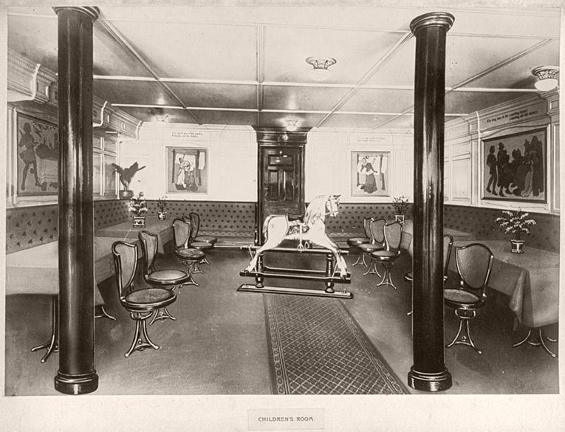 Children's room, circa 1906