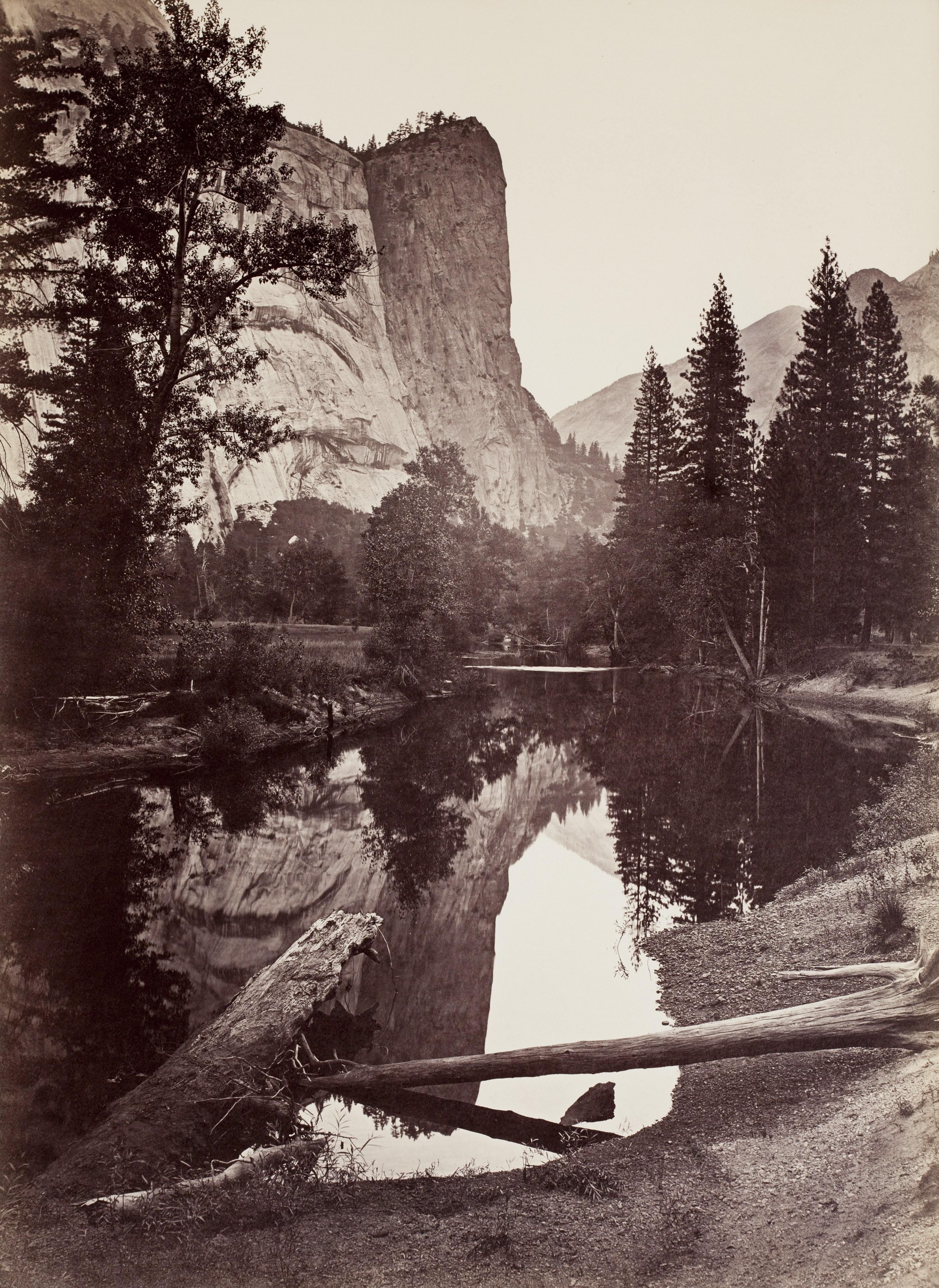 Carleton E. Watkins, Washington Column, 2,082 Ft., Mirror View, No. 81, Yosemite, California, ca. 1865-66
