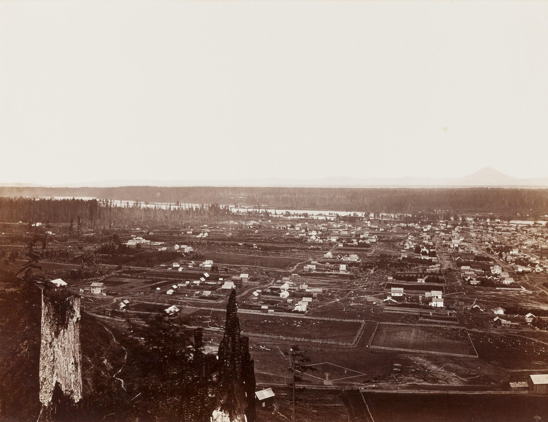 Carleton E. Watkins, City of Portland, Willamette River, 1867