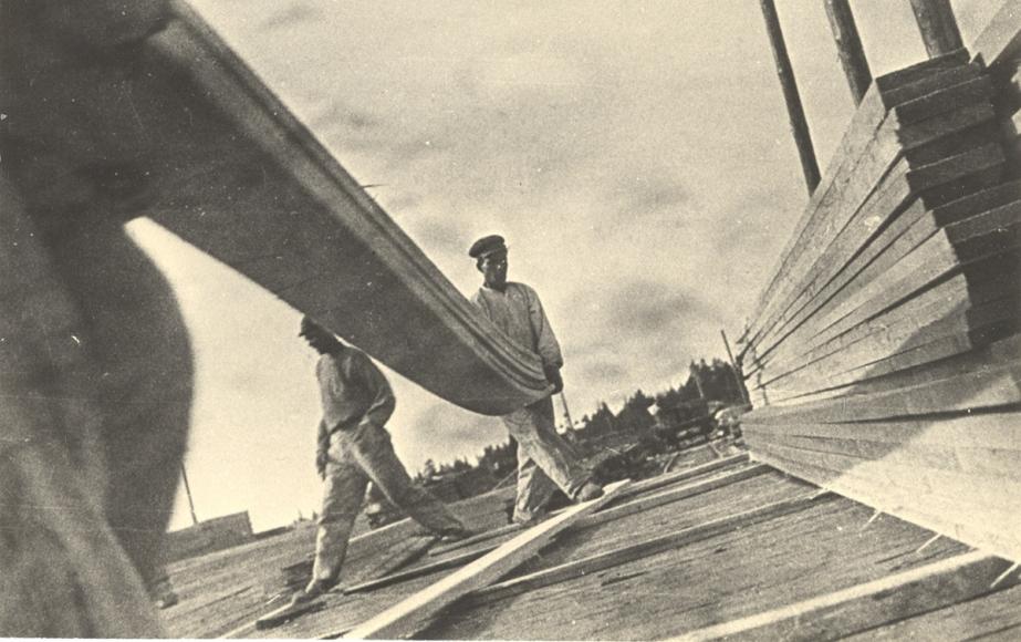 Stacking Lumber, Vakhtan Sawmill, 1930