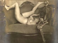 Vintage: Lady Dancing With Skeleton by Franz Fiedler (1923)