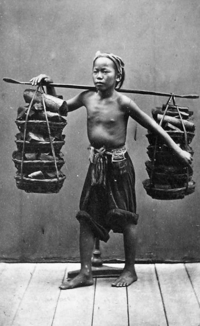 An Annamese bearer, 1880