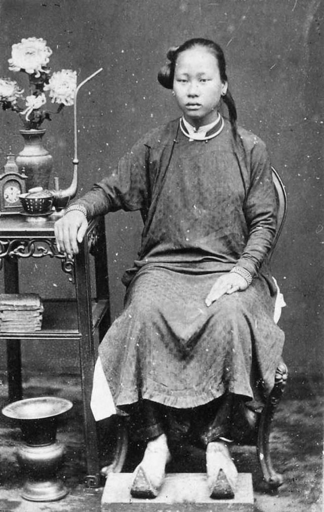 A beautiful Annamese girl, 1880.