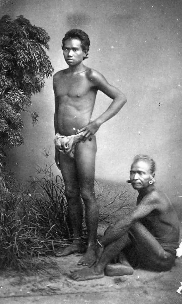 Two S'Tieng ethnic men in the Central Highlands, 1880