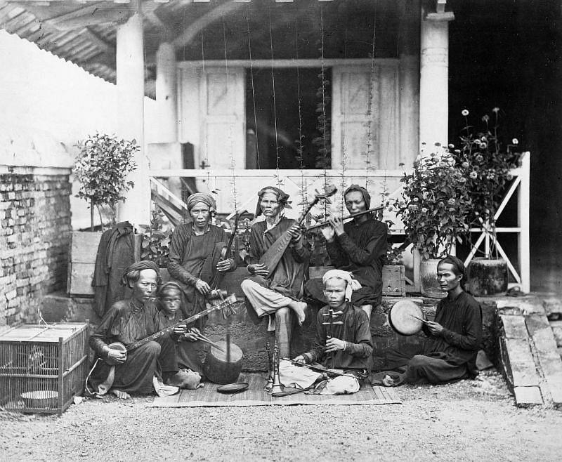 Annamese musicians in Saigon, 1886
