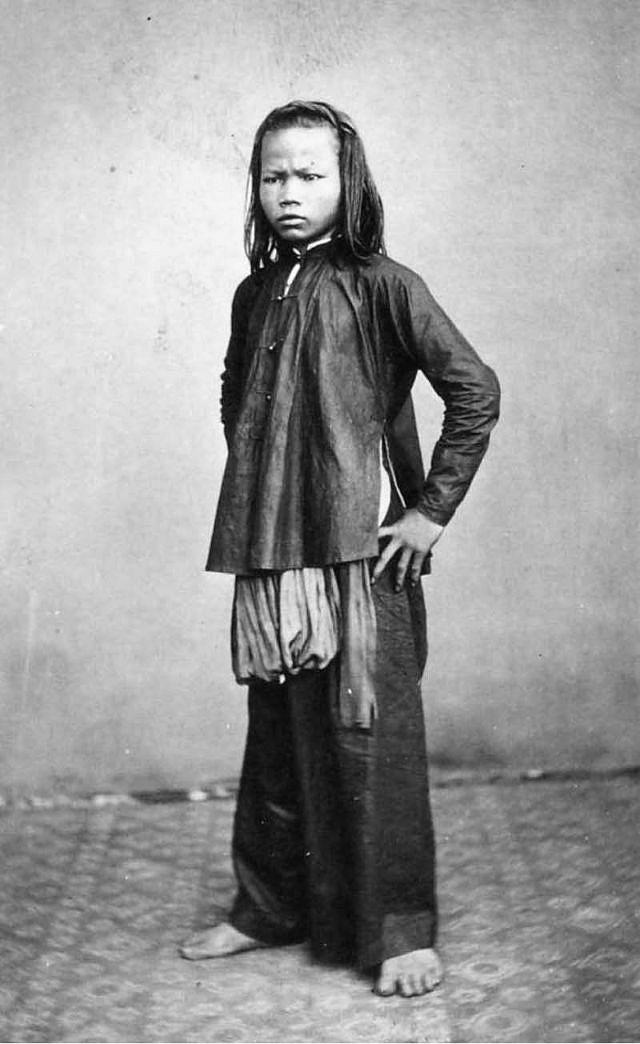 A Saigon girl, 1880