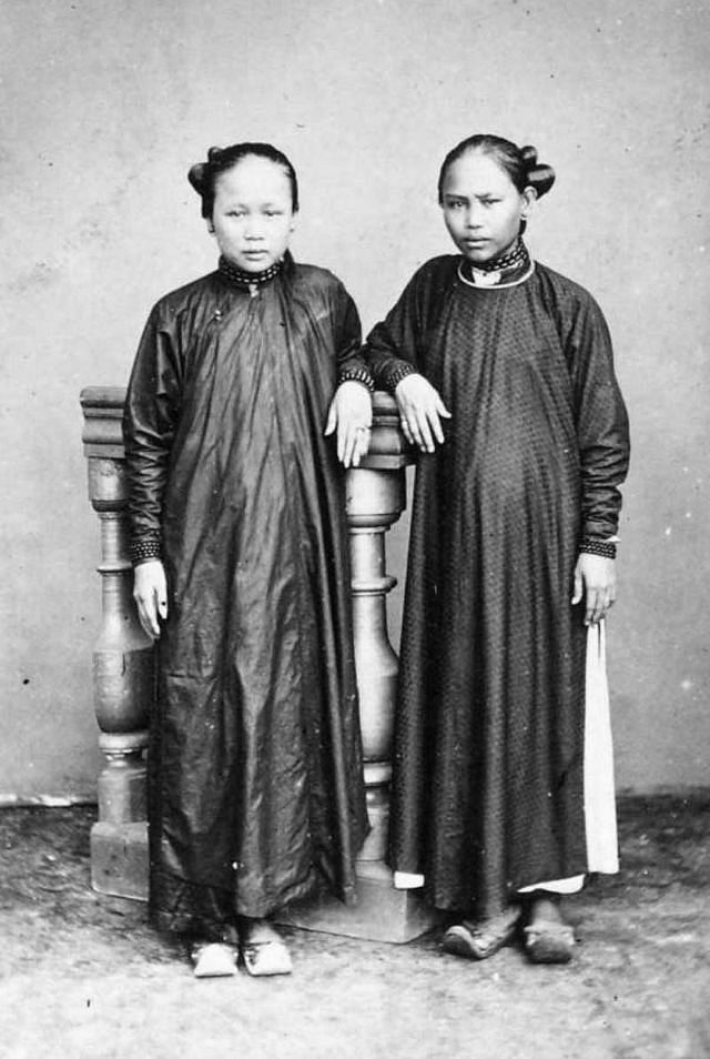 A wealthy Annamese woman and her daughter, 1880