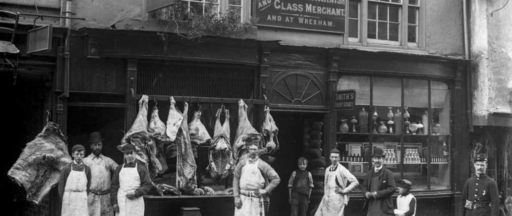 Vintage: Shropshire Shop Fronts by Joseph Lewis della-Porta (1888)