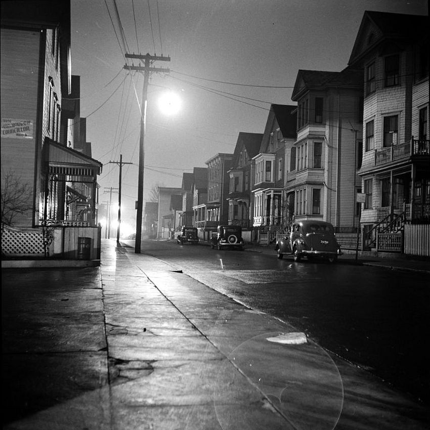 Massachusetts. Nocturne. A Foggy Night in New Bedford, 1940