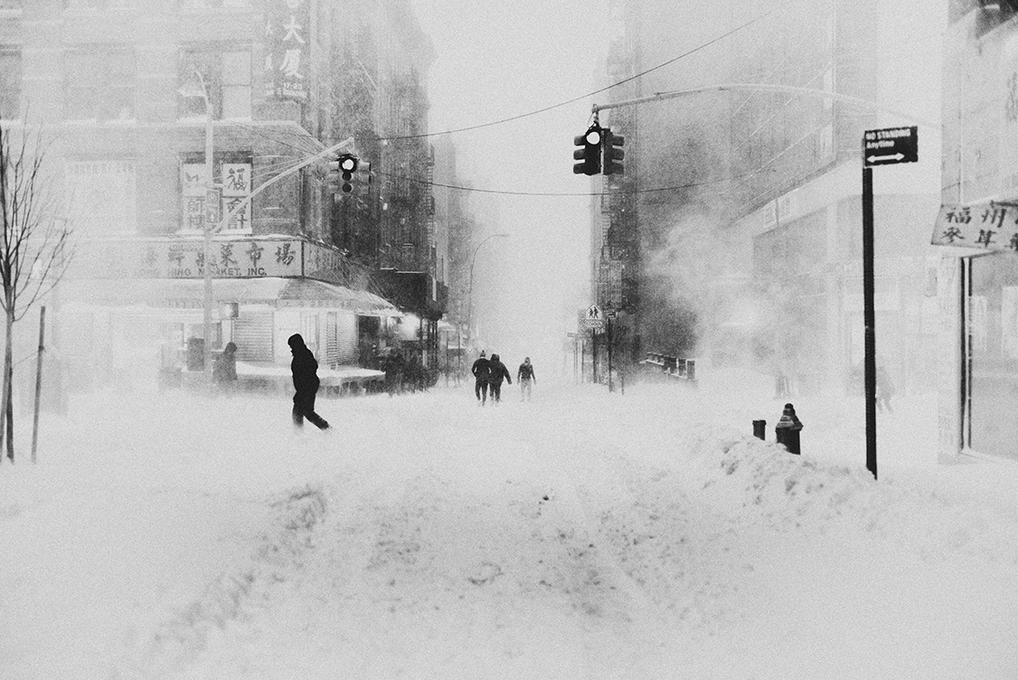 Bastiaan Woudt Blizzard NY III, 2016 Archival Pigment Print on Inova Baryta Paper 90 x 120 cm Edition of 10 & 2 AP © Bastiaan Woudt