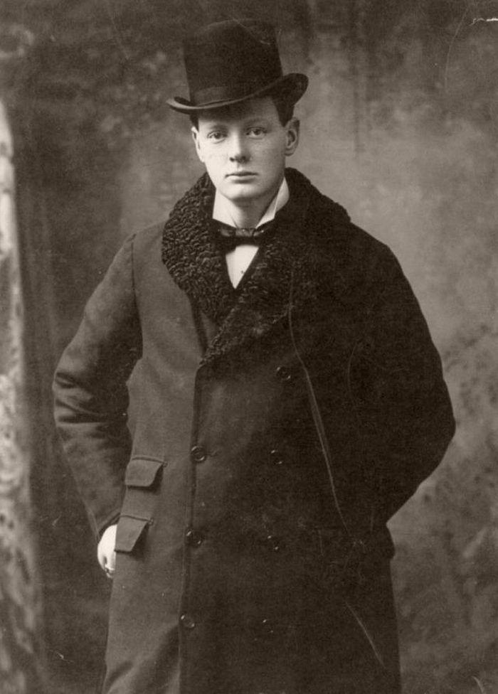 Portrait of Churchill, taken in Boston, Massachusetts, USA in 1900.