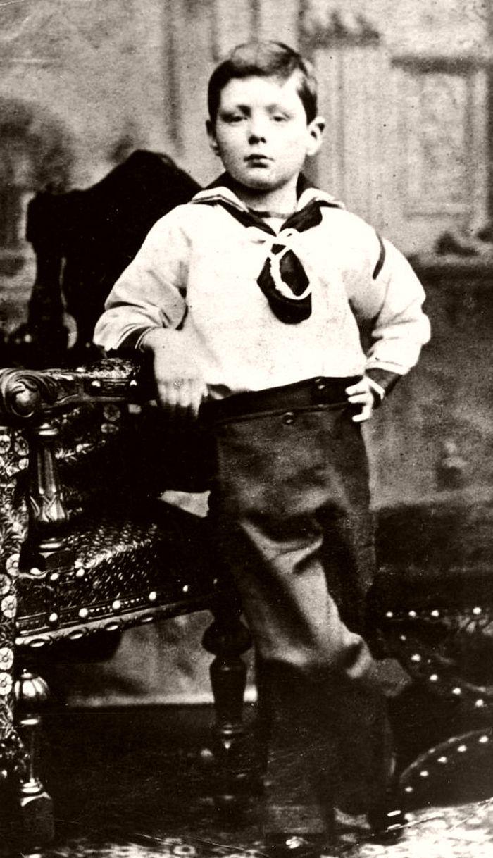 A portrait photo of Churchill in 1881.