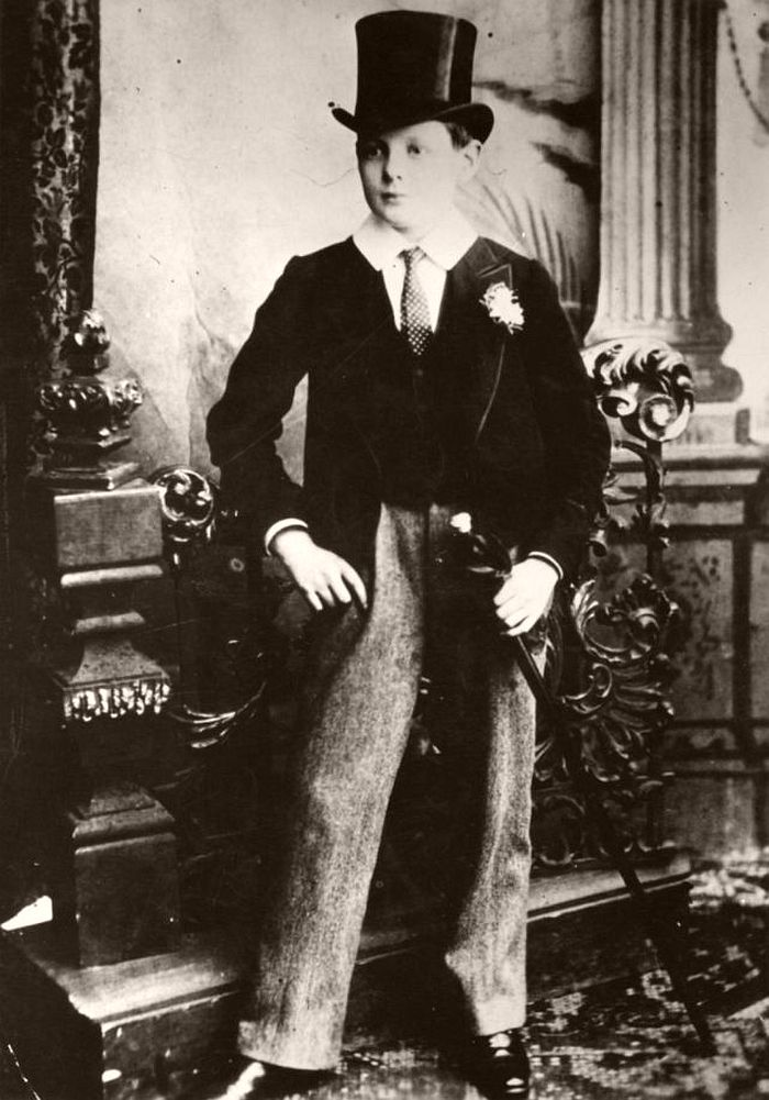 Churchill as a Harrow schoolboy, 1889.