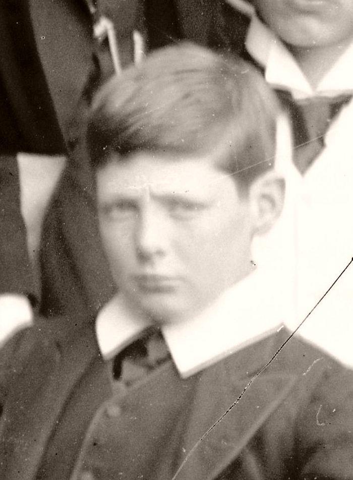 Churchill as a schoolboy at Harrow, 1890.