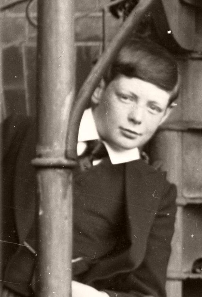 Churchill as a schoolboy at Harrow, 1891.