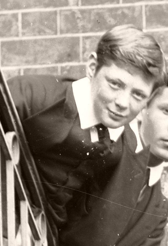 Churchill as a schoolboy at Harrow, 1892.