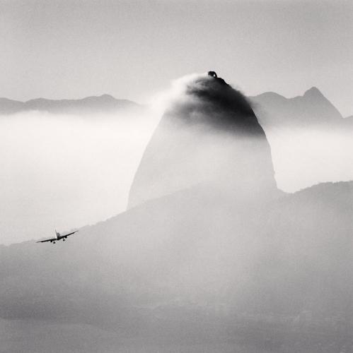Michael Kenna,Plane and Sugar Loaf Mountain, Rio de Janeiro, Brazil. 2006.