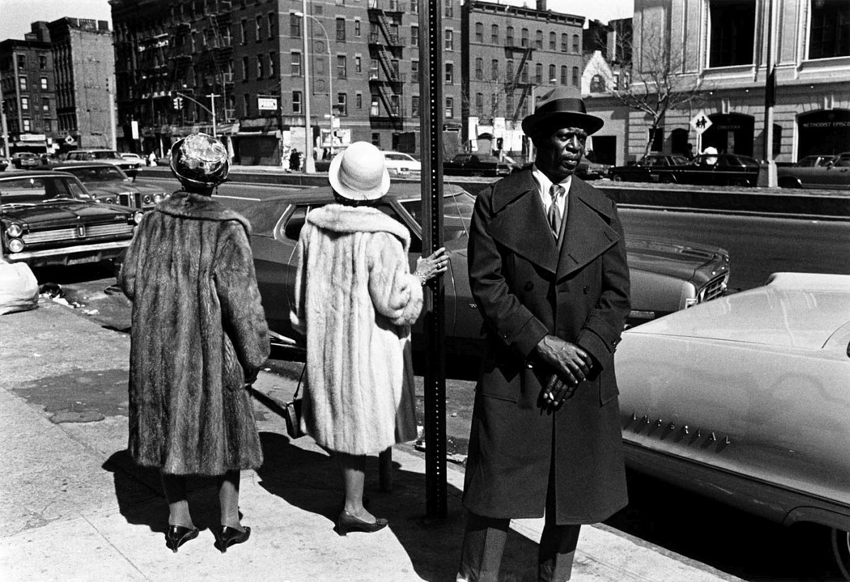 A Man and Two Women after a Church Service, 1976