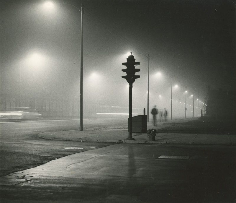South State Street – Chicago – in fog, c.1956